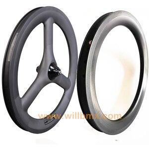 2020 Willbmx углеродное колесо Brompton 16''349 супер светильник 3 Спицы триспицы 16inch349 складной велосипед 74/112 мм 6 скоростей углеродный обод
