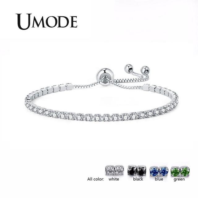 UMODE 4 couleurs mode zircon cubique Tennis Bracelet & bracelets pour femmes cadeaux nouveau luxe brassard Voor Vrouwen Bijoux UB0124