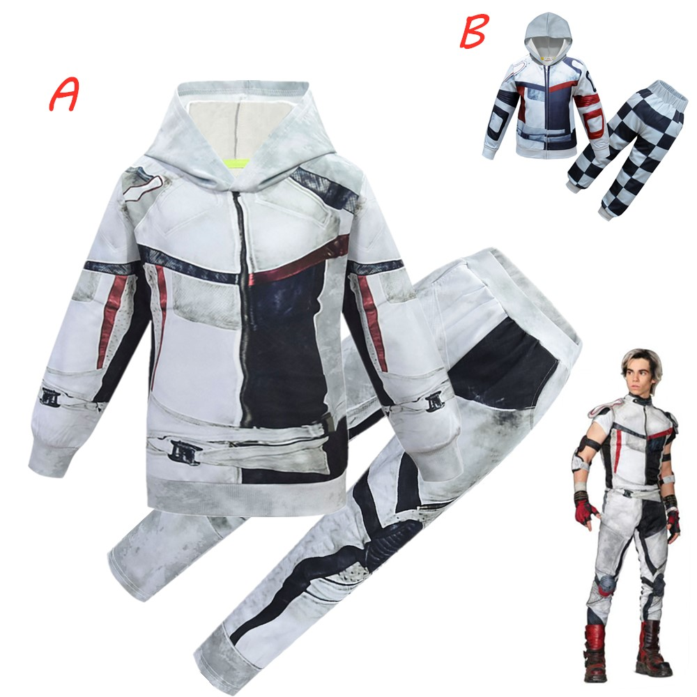 New Boys Clothes Performance Clothing Descendants 3 Carlos Clothes Set Christmas Costume Party 3D Boys Casual Costumes Carnival
