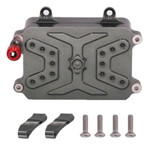 CNC Metal Receiver Box ESC for 1/10 RC Crawler Car Axial SCX10 RC4WD D90 D110 Upgrade Parts