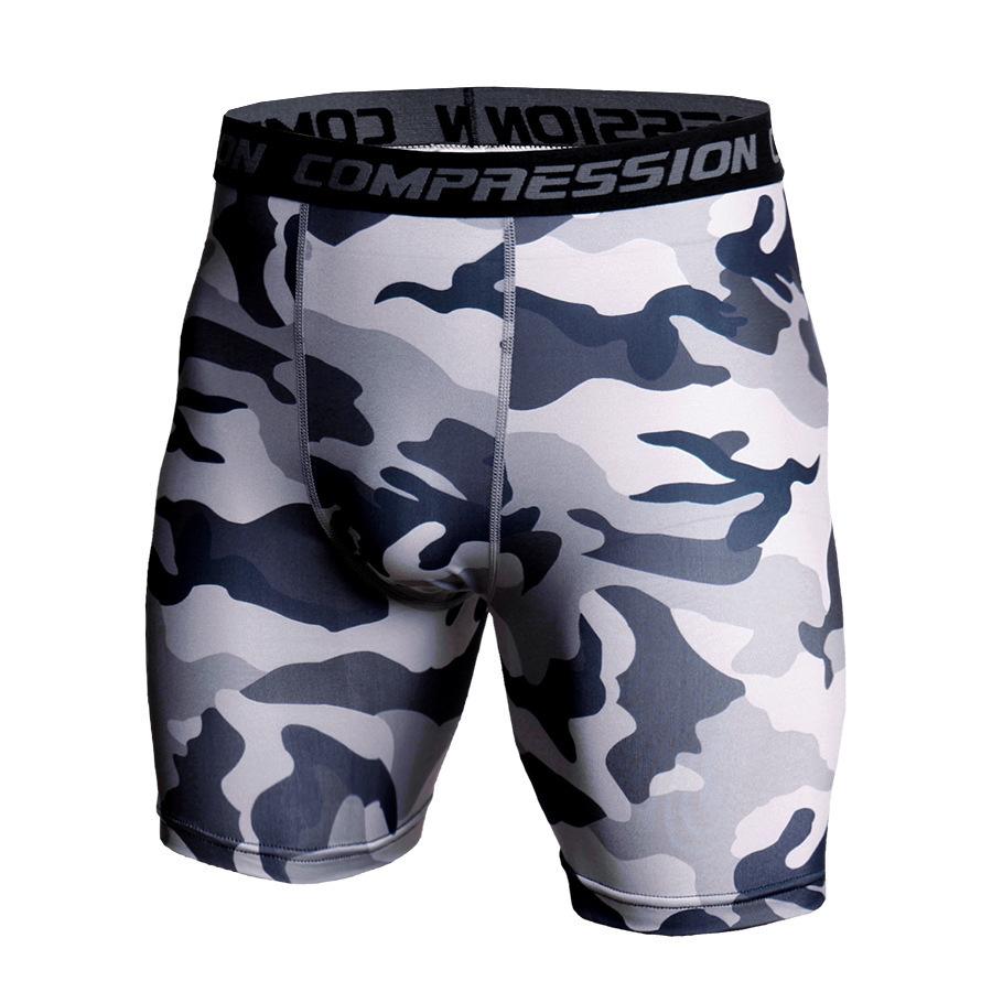 Men's Sports Casual Pants Fitness Shorts Moisture Wicking Fast Drying Running Camouflage Pants Tights