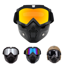 Goggles Snowmobile Skiing Protective Motocross Windproof Unisex with MOUTH-FILTER Mask