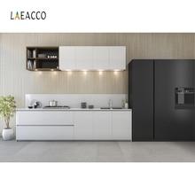 Laeacco fotófono de cocina moderno, planta en maceta, armario, encimera, fondos de fotografía, foto de decoración Interior, Fondos fotozona