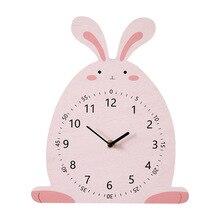 Cute Cartoon Wall Clock Kids Room wall watch 3d clock Kindergarten Home Decoration Accessories Animal Owl