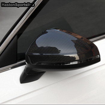 Free Shipping Carbon Fiber Replace Side Rearview mirror Cap Cover For A4 B9 S4 A5 S5 2017UP