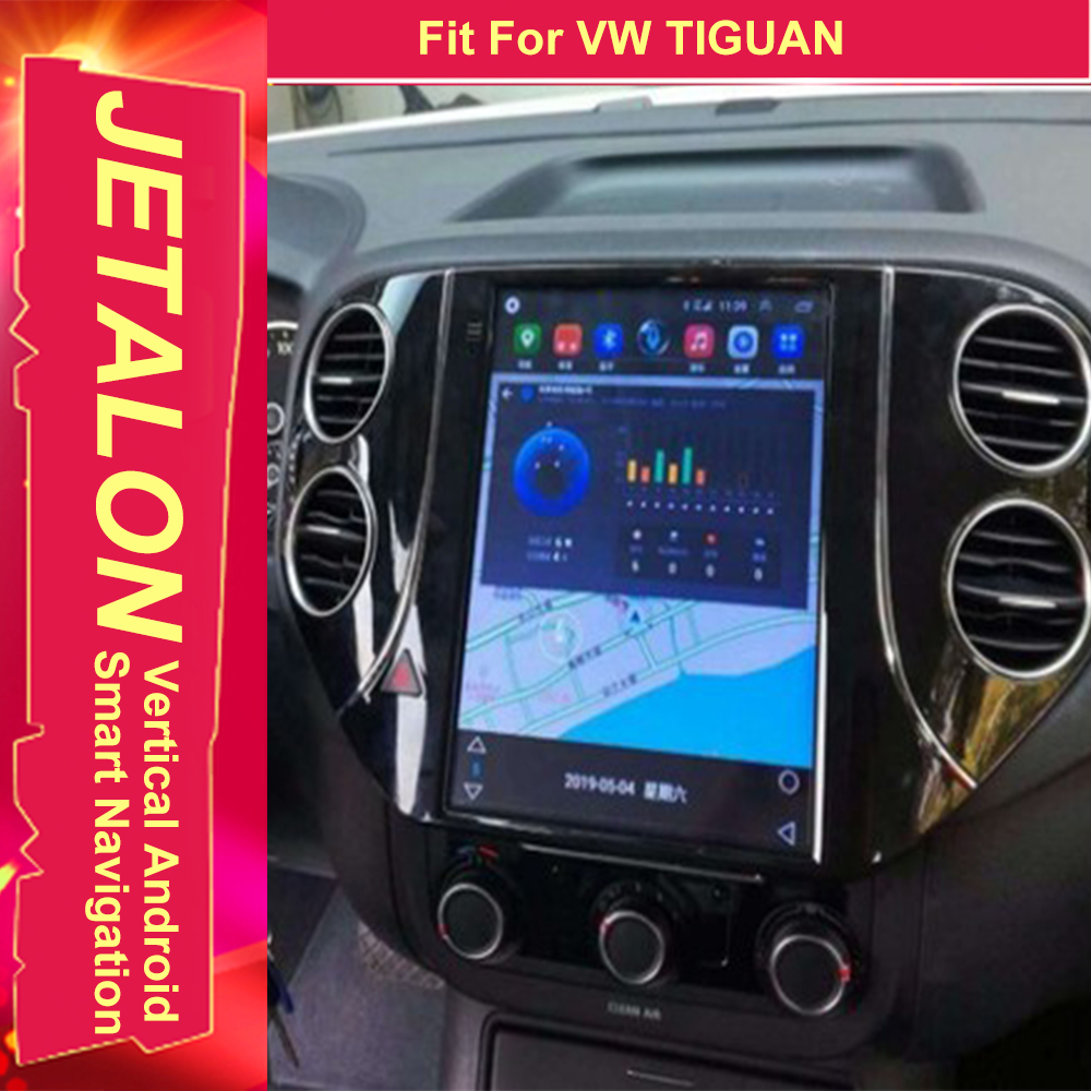 For VW TIGUAN 2015 2014 2013 2012 Tesla Radio Android 9.0 Stereo GPS Car Multimedia Audio Player 4G Network Navigation Head Unit