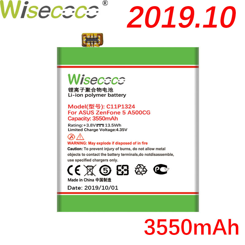 Wisecoco C11P1324 3550mAh New Powerful Battery For <font><b>ASUS</b></font> <font><b>ZenFone</b></font> <font><b>5</b></font> A500G Z5 A500 <font><b>A500CG</b></font> <font><b>A501CG</b></font> A500KL+ Tracking Number image