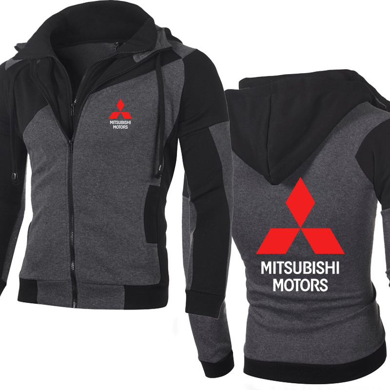 Jacket Men Mitsubishi Car Logo Sweatshirt Hoody Spring Autumn Fleece Cotton Zipper Hoodies HipHop Harajuku Male Clothing