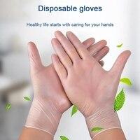 Schutz Handschuhe Einweg Medizinische Pulver freies Handschuhe 50 stücke PVC Schnelle Lieferung Drop Verschiffen-in Schutzhandschuhe aus Sicherheit und Schutz bei