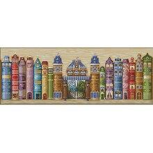 Top Qualität Reizende Nette Gezählt Kreuzstich Kit Buch Welt Königreich Bücher Lesen