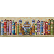 Top Quality Lovely Cute Counted Cross Stitch Kit Book World Kingdom Books Reading