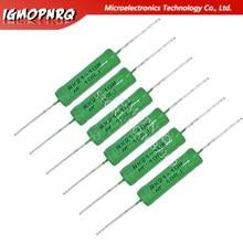 5pcs RX21-10W Wire Wound Resistência 5% 1R 10R 100R 15 12 10 1K K K K 18R 20R 22R 24R 27R 30R 33R 36R RX21 HJXRHGAL