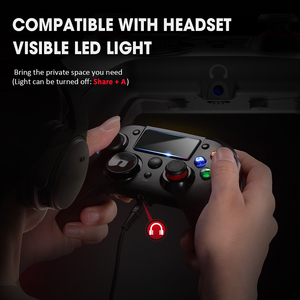 Image 4 - PICTEK PC263 PS4 Controller USB Wireless Gamepad Android for Playstation 4 With Headset Jack Rechargeable PS4 Gaming Controller