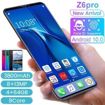 Z6 Pro смартфон 5,8 дюймов дисплей смартфона 512 М + 4G Android смартфон 3D Стекло позолоченный задняя крышка черного цвета