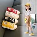Детская обувь для больших девочек; цветная парусиновая обувь с нескользящей подошвой для отдыха; Новая Осенняя обувь для больших мальчиков;...
