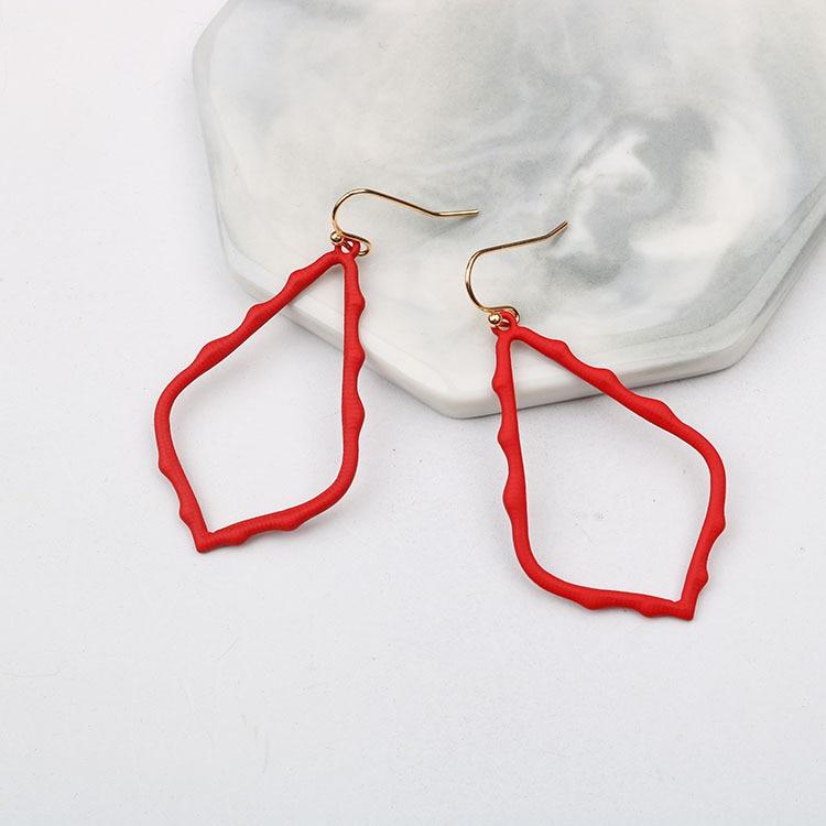 15 Colors Designer Frame Teardrop Earrings for Women Fashion Jewelry Painting Metal Water Drop Earrings Statement Earrings 13