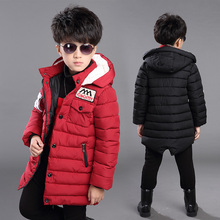 Baby Boys Girls Hooded Jacket Coat Spring Winter Kids Windbreaker for Boy thick coat Outerwear Children Clothes for 6 10 15 year цена 2017