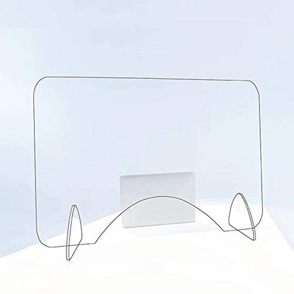 Acrylic Isolation Board Sneeze Guard Shield Countertop Protective Sneeze Guard For Counters Food Screen Impact Resistance