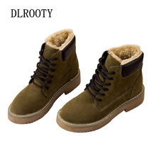 Women Snow Boots Ankle Winter Warm Short Plush Outdoor Female Casual Shoes Flats Fashion Platform Round Toe Lace Up(China)