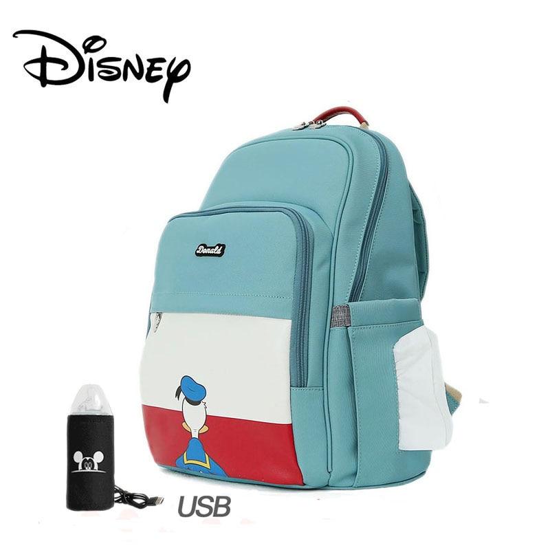 Disney Baby Diaper Bag Fashion Mummy Maternity USB Heating Nappy Bag Travel Backpack Designer Stroller Nursing Baby Care Bag New