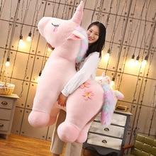купить 1Pcs 35-90cm Soft Kawaii Unicorn Birthday Party Plush Toys Stuffed Cute Unicornio Lovely Stuffed Animal Gift for Kids Baby Doll дешево
