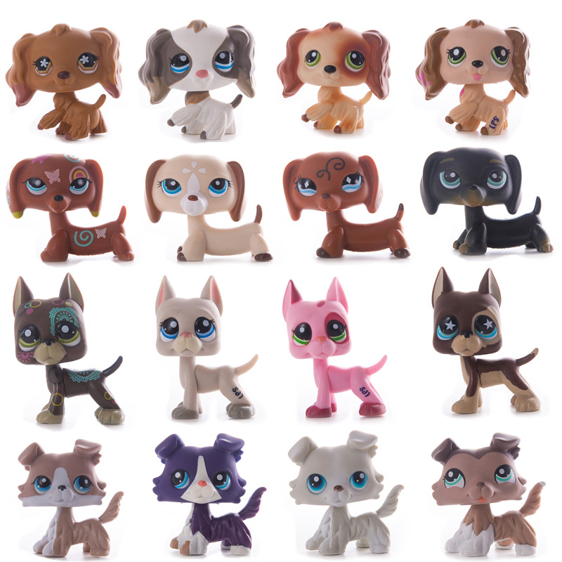 Rare LPS Toy Model Pet Shop Toy Dog Dachshund Figure Collection Classic Pet Role Playing Action Child Birthday Gift