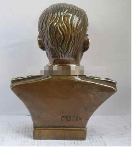 305 sztuki ludowej ręcznie rzeźbione miedzi Stalin popiersia rzeźba/statua metalowe rzemiosła, antyczne dekoracja świąteczna prezent