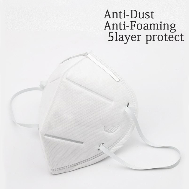 10 Pcs Protective Mask KN95 Mouth Masks Anti-bacterial Masks Meltblown Protection Face Mask Filter Breathable Flu-proof Mask 5