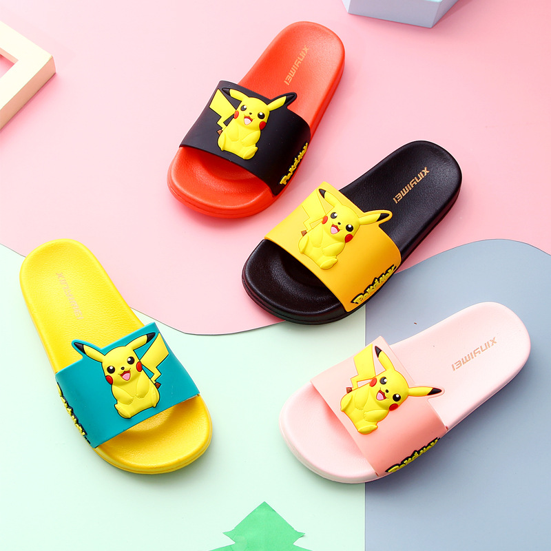 Kids Slippers Indoor Summer Girls Boys Swimming Home Slippers For Children Pajamas Cartoon Slippers With Ears Antislip Shoes