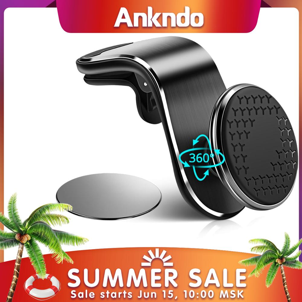 ANKNDO Magnetic Car Phone Holder Universal Car Phone Charger Holder Stand Air Outlet Mobile Phone Navigation Bracelet For Xiaomi|Phone Holders & Stands|   - AliExpress