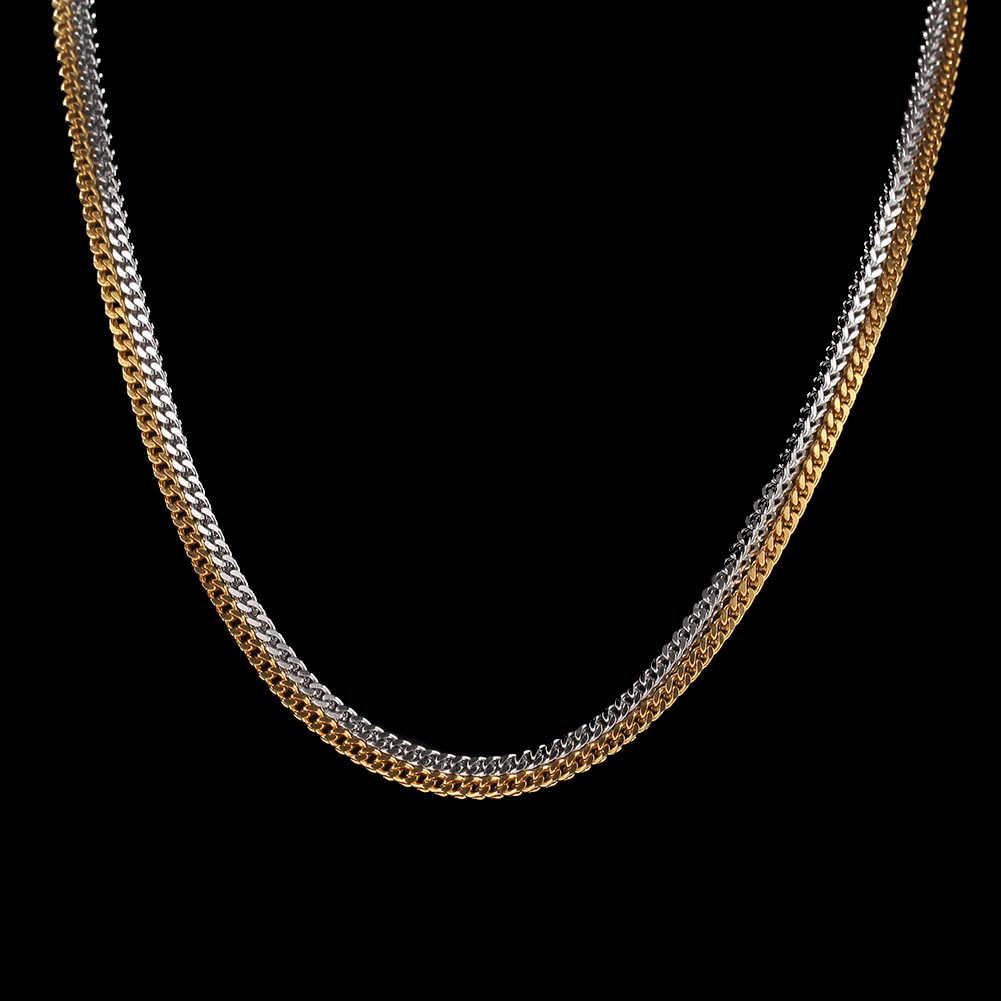 UWIN 3 мм Франко звено цепи из нержавеющей стали высокое качество ожерелье унисекс золотые серебряные ювелирные цепи Прямая доставка
