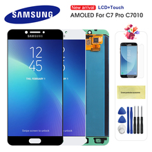 Original AMOLED LCD For Samsung Galaxy C7 Pro C7010 LCD Display Touch Screen Digitizer Assembly Replacement For C7 pro lcd