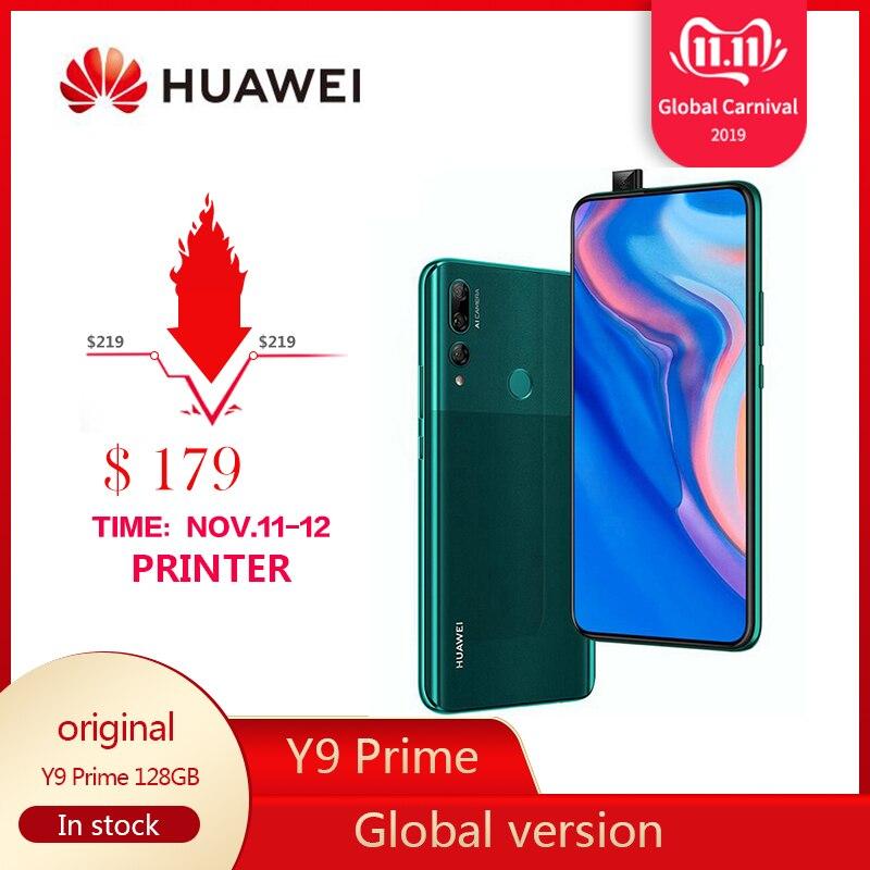 Presale Original HUAWEI Y9 Prime Mobile Phone 4G RAM 128GB ROM Kirin710 Smartphone 6.59 Inch Screen Cellphone Support Google Pay