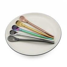 Pailles en acier inoxydable 304 de haute qualité | Paille à boire en métal réutilisable, cuillère à remuer filtrée écologique accessoires pour les outils de thé