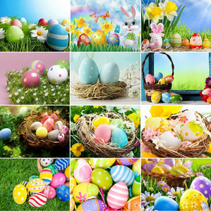 Yikexin полная Алмазная картина, пасхальные яйца, вышивка крестом, алмазная вышивка, продажа, домашняя декоративная Бриллиантовая мозаика, рук...