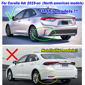 Image 4 - Toyota Corolla E210 4 도어 세단 2020 전면 리어 카 머드 플랩 스플래쉬 가드 머드 가드 액세서리