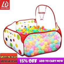 אוקיינוס כדור בריכת תינוק לול ילדי צעצוע אוהל כדור בור עם סל חיצוני צעצועים לילדים Ballenbak