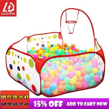 Ball Pool with Basket Children Toy Ocean Ball Pit Baby Playpen Tent Outdoor Toys for Children Ballenbak