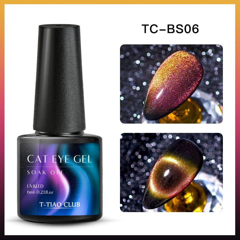 9D Гель-лак для ногтей с эффектом «кошачий глаз» лак Хамелеон звёздный Небесный Сияющий Магнитный Гель-лак для ногтей Магнитный замачиваемый УФ-гель лак черная основа - Color: DS08987