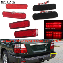 MZORANGE 2PCS LED Rear Bumper Reflector Light For Toyota Land Cruiser/For Lexus LX470 Lantern Tail Brake Stop DRL Fog Light Lamp mzorange 2pcs led rear bumper reflector light tail brake stop drl fog light lamp for toyota land cruiser for lexus lx470 lantern