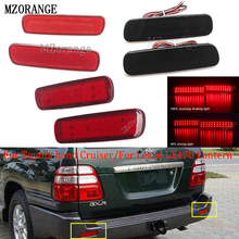 MZORANGE 2PCS LED Rear Bumper Reflector Light Tail Brake Stop DRL Fog Light Lamp For Toyota Land Cru