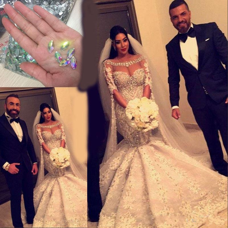 2020 Mermaid Gorgeous Wedding Gowns Luxury Crystal Beaded Appliques Half Sleeves Bridal Dress Stunning Wedding Dresses Buy At The Price Of 266 11 In Aliexpress Com Imall Com,Nice Dresses For Traditional Wedding