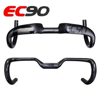 2019 nowy EC90 carbon włókno węglowe włókna autostrady rower thighed uchwyt węgla kierownica droga kierownica rowerowa 400 420 440MM|Kierownice rowerowe|Sport i rozrywka -