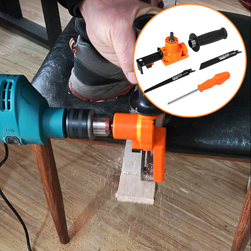 Электроинструмент, крепежные приспособления Сабельная пила для дома регулируемый портативный электрический дрель нескользящая разделочная деревянная адаптер DIY