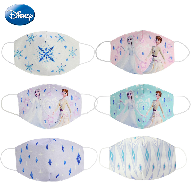 2020 Disney Adult Mask Dust-proof Breathable Anti-haze Mask Frozen Cartoon Mouth Face Mask Cotton Children Daily Protection Gift