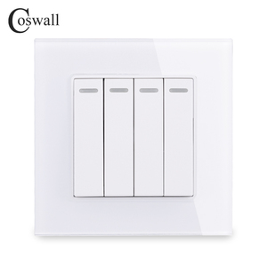 COSWALL 4 Gang 1 Way Luxury Cr