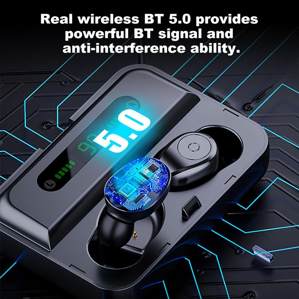 VTIN Hot TWS Earphone Mini Wireless Bluetooth 5 0 Earphone Stereo Earbuds In Ear Waterproof Ear Buds Earphone For iPhone Huawei in Bluetooth Earphones Headphones from Consumer Electronics