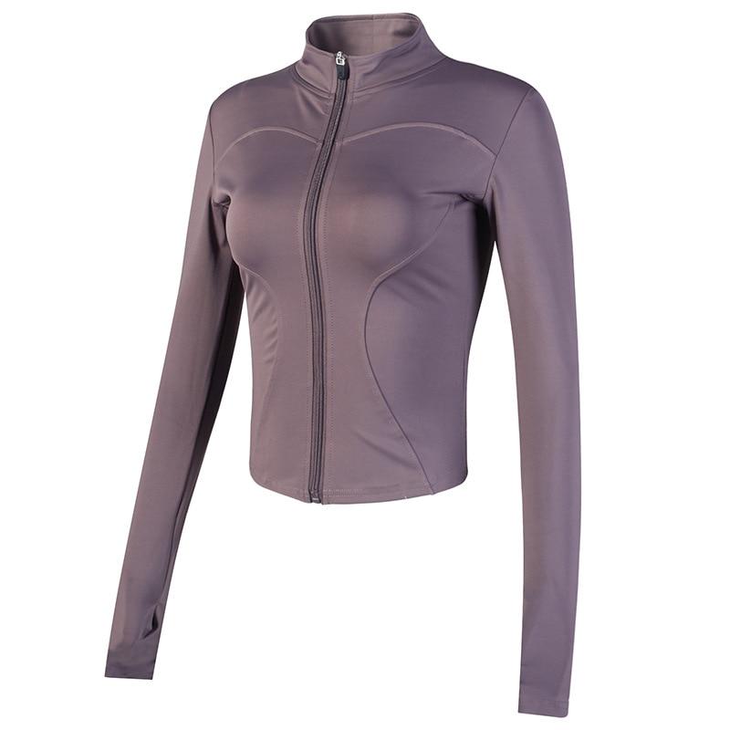 Balancora Veste de sport pour femme avec fermeture /éclair et trous pour les pouces