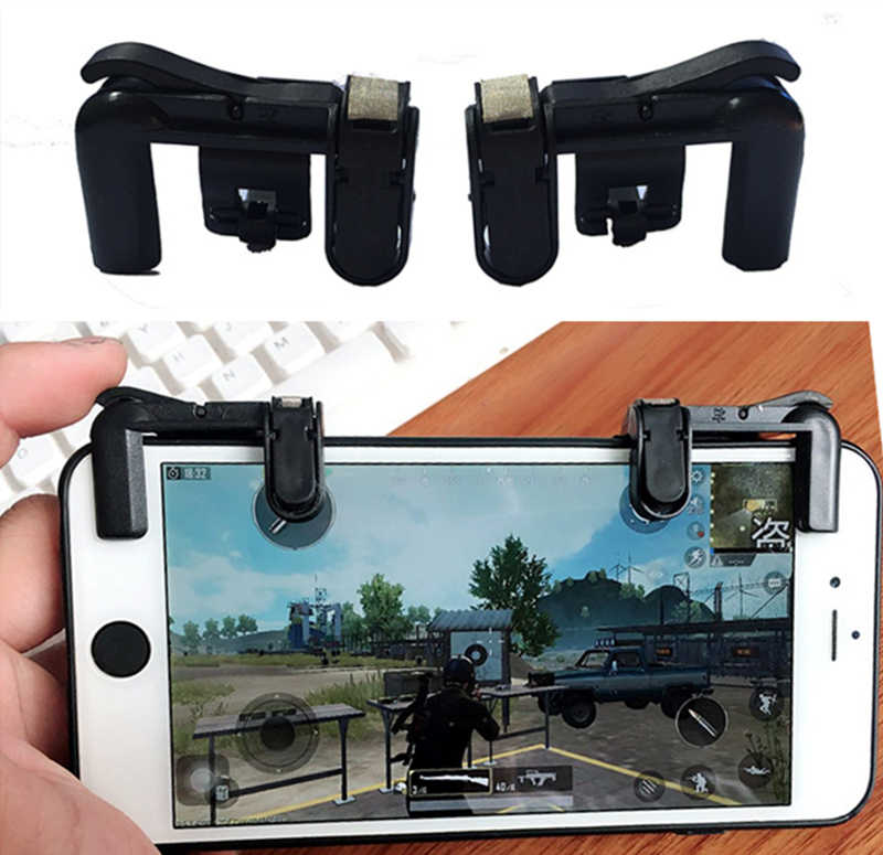 NEW 2PCS For PUBG Controller Gamepad Joystick Trigger Cell Phone Mobile Fire Button F3 L1R1 Aim Key for iphone Android Xiaomi