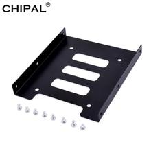 CHIPAL 2,5 дюймов SSD HDD до 3,5 дюймов металлический монтажный адаптер Кронштейн Док 8 винтов держатель жесткого диска для ПК корпус жесткого диска